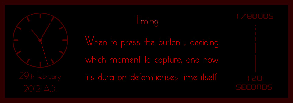 Holistic Photography : Timing